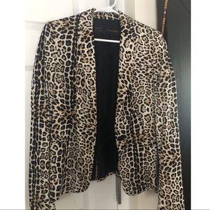 Leopard print Zara blazer